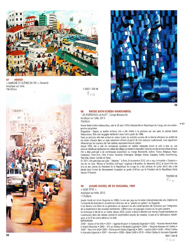 Rhode Makoumbou in «Catalogue de vente publique - Drouot Richelieu» (ma 16 dec 2013) • Knipsel 2/2