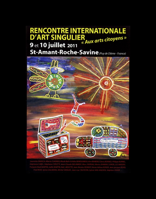 Rhode Makoumbou dans «Rencontre Internationale d'Art Singulier» (mer 08 jun 2011) • Coupure 1/4