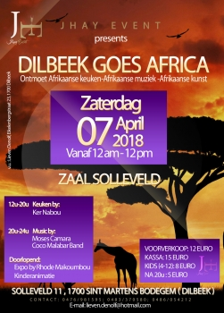 «Dilbeek goes Africa» @ Salle Solleveld, Dilbeek, België (April 2018)