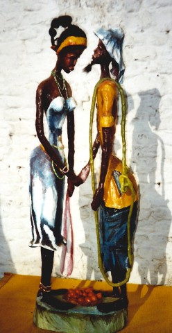 Rhode Makoumbou › Sculpture : «Le couple (1)» (2006) • ID › 21