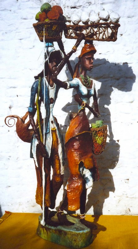 Rhode Makoumbou › Sculpture : «Le couple (2)» (2006)