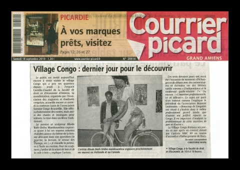 Rhode Makoumbou in «Le Courrier picard», krant n° 20914 (za 18 sep 2010)