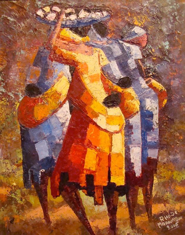 Femmes Au Marche 2006 Photos Peintures Rhode Makoumbou